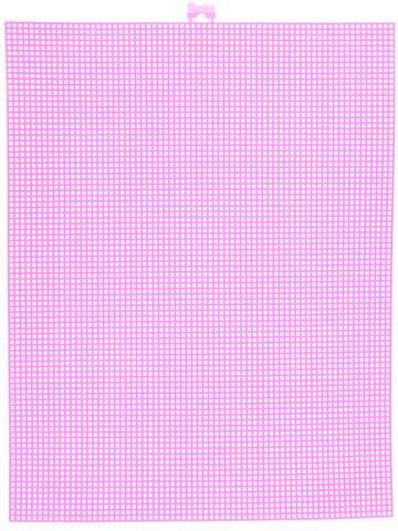 #7 Mesh Plastic Canvas - Neon Pink - 10.5 x 13.5