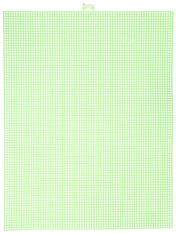 #7 Mesh Plastic Canvas - Neon Green - 10.5 x 13.5