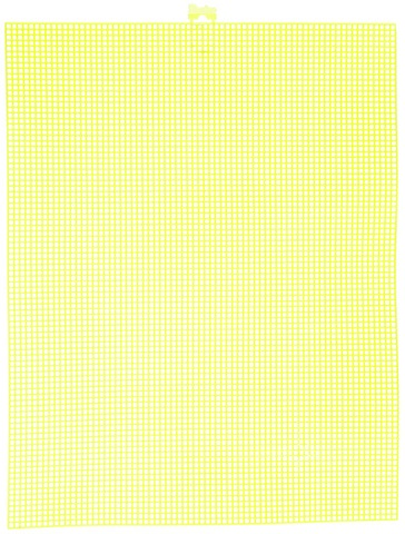 #7 Mesh Plastic Canvas - Neon Yellow - 10.5 x 13.5