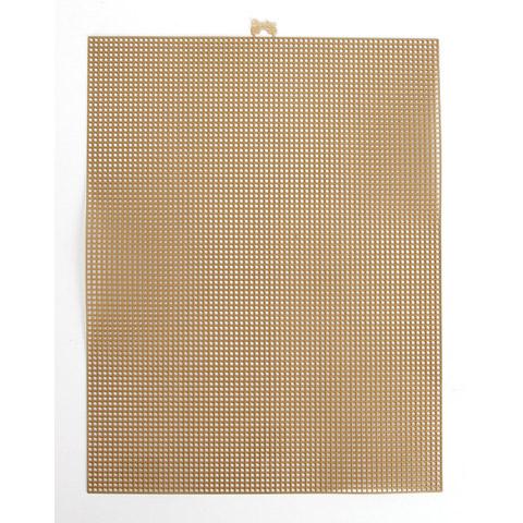 #7 Mesh Plastic Canvas - Gold Metallic - 10.5 x 13.5 inches