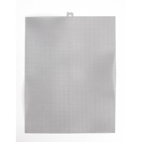 #7 Mesh Plastic Canvas - Silver Metallic - 10.5 x 13.5 inches