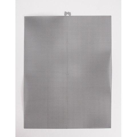 #7 Mesh Plastic Canvas - Gunmetal Metallic - 10.5 x 13.5 inches