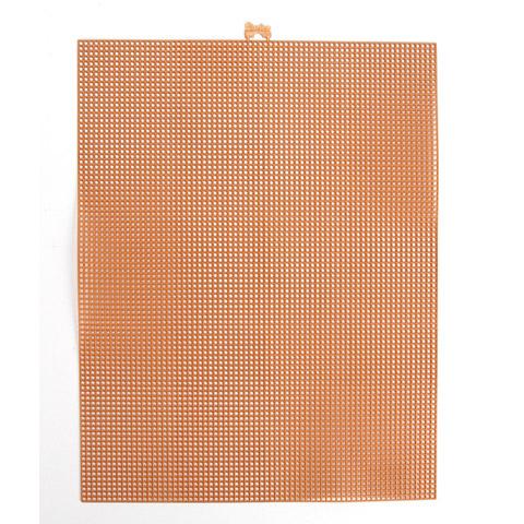 #7 Mesh Plastic Canvas - Copper Metallic - 10.5 x 13.5 inches