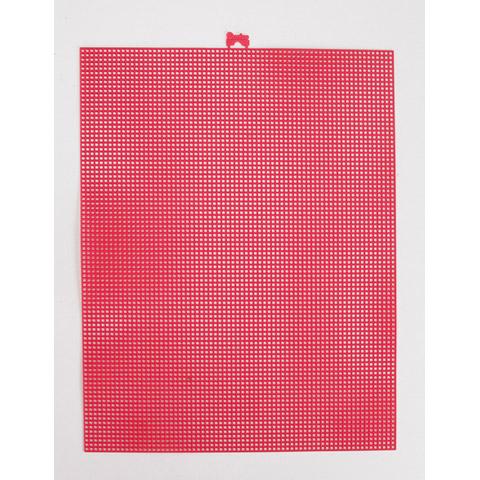 #7 Mesh Plastic Canvas - Raspberry - 10.5 x 13.5 inches