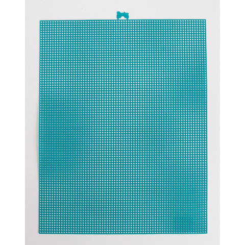 #7 Mesh Plastic Canvas - Peacock Blue - 10.5 x 13.5 inches
