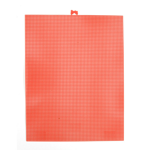 #7 Mesh Plastic Canvas - Coral - 10.5 x 13.5 inches