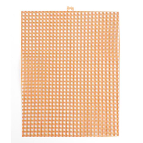 #7 Mesh Plastic Canvas - Taupe - 10.5 x 13.5 inches