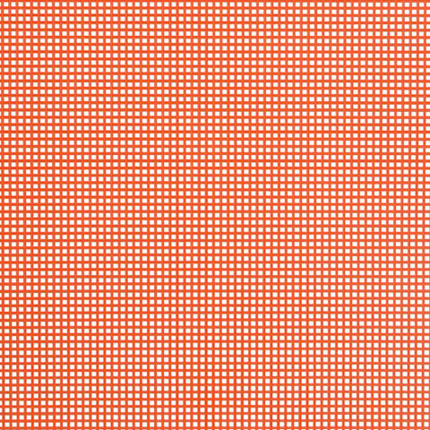 #7 Mesh Plastic Canvas - Orange - 10.5 x 13.5