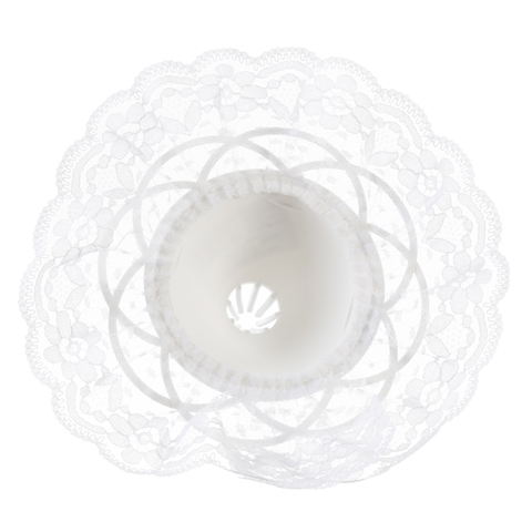 Bouquet Holder - White Lace - 8 inches with a 9 inch diameter