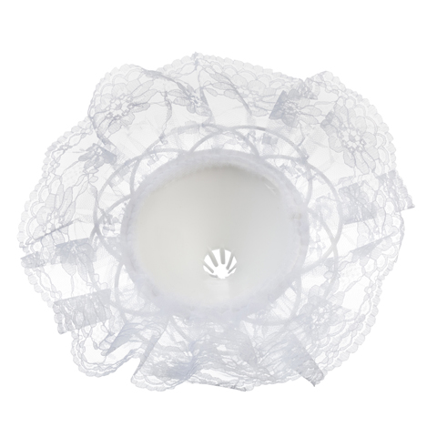 Bouquet Holder - White Lace - 11 inches with a 12 inch diameter