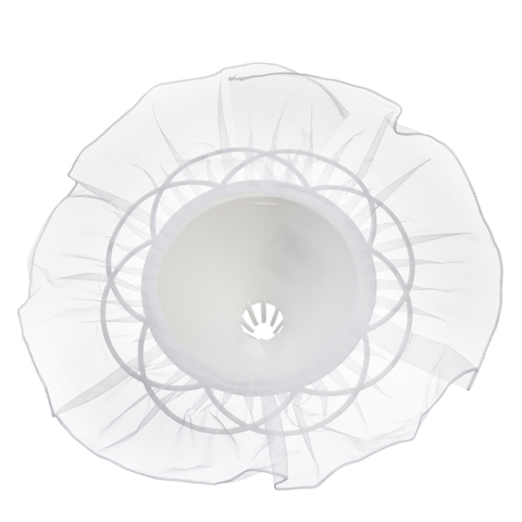 Bouquet Holder - White Tulle - 9 inches with a 10 inch diameter