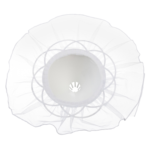 Bouquet Holder - White Tulle - 11 inches with a 12 inch diameter