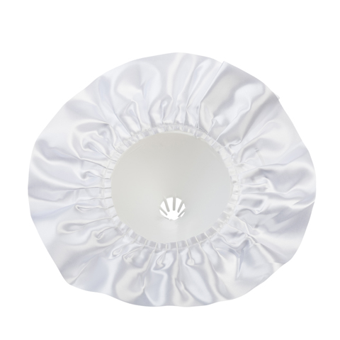 Bouquet Holder - White Satin - 9 inches with a 10 inch diameter