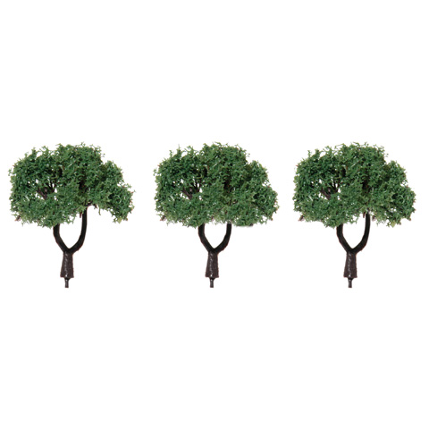 Diorama Tree with Powder Leaves - 1.5 inches - 3 pieces