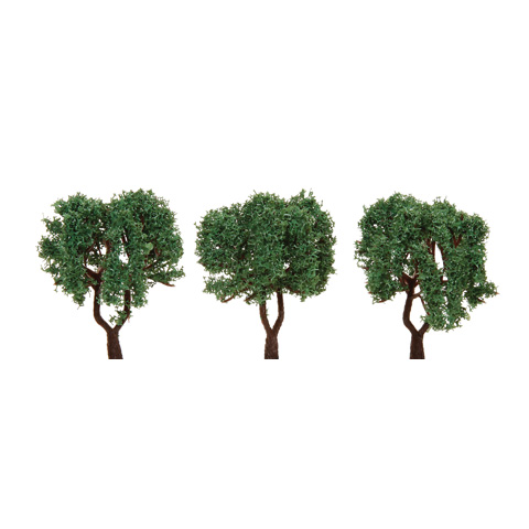 Diorama Tree with Powder Leaves - 2.375 inches - 3 pieces