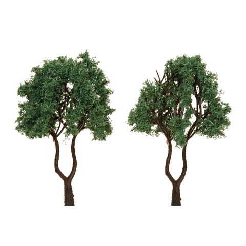 Diorama Tree - Dual Trunk with Powder Leaves - 3.125 inches - 2 pieces