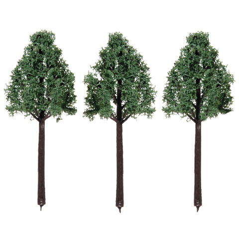 Diorama Tree with Powder Leaves - 3.125 inches - 3 pieces