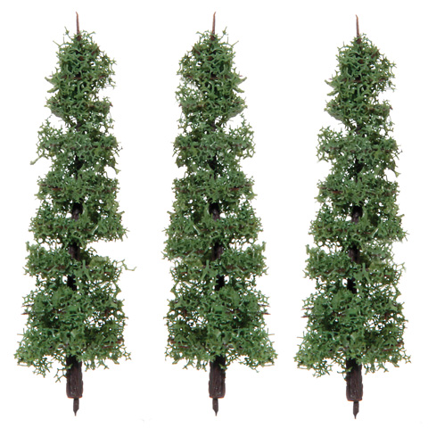 Diorama Tree with Powder Leaves - 3.5 inches - 3 pieces
