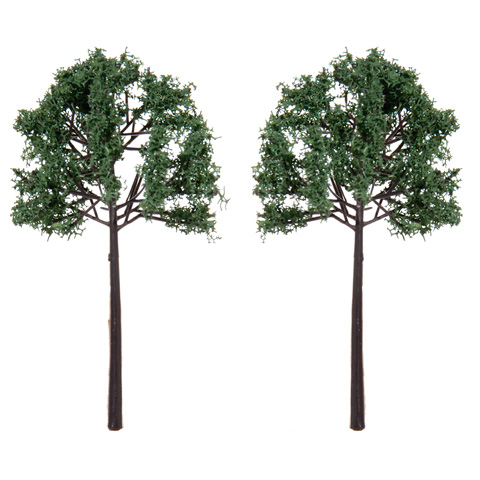 Diorama Tree with Powder Leaves - 4 inches - 2 pieces