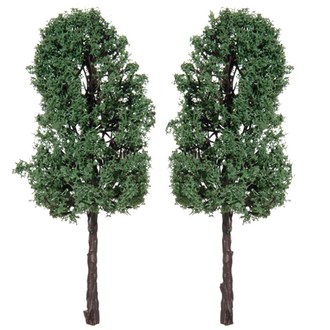 Diorama Tree with Powder Leaves - 4.75 inches - 2 pieces