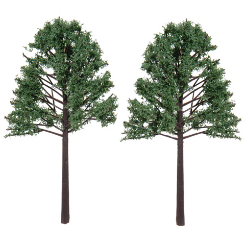 Diorama Tree with Powder Leaves - 5.125 inches - 2 pieces