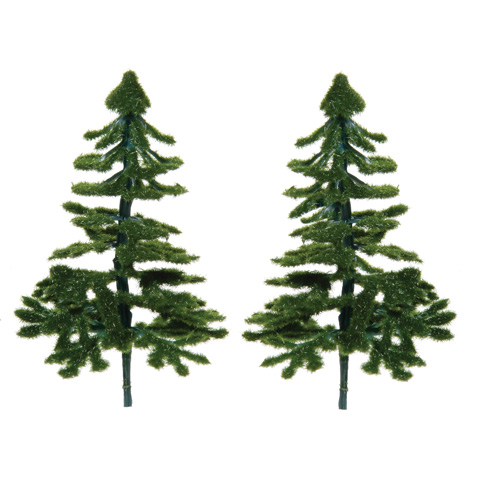 Diorama Tree - Christmas Tree - 3.5 inches - 2 pieces