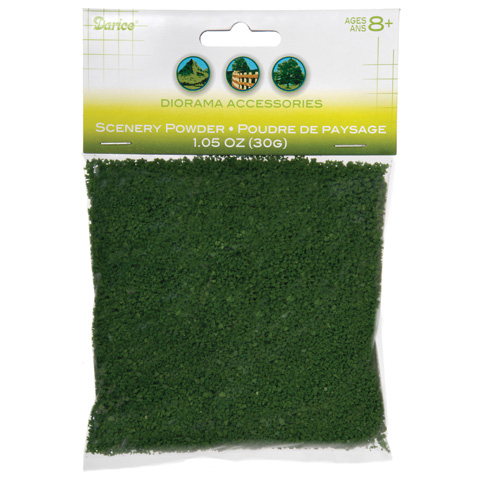 Diorama Accessories - Scenery Powder - Dark Green - 30 grams