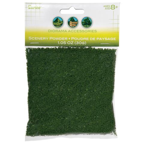 Diorama Accessories - Scenery Powder - Dark Green - 30 grams