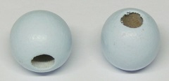 Wood Bead - Round - Lt. Blue - 35mm - 50 pieces