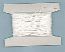 White Waxed Cotton Bead Thread
