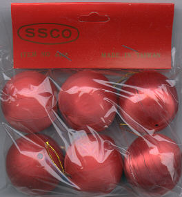 Satin Balls - Red - 35 mm - 6 pieces