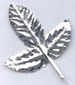 Silver Foil Rose Tiege Leaf