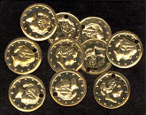 16mm Flat Coin Gilt