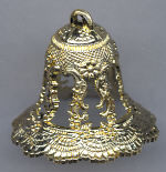 2 inch Gold Wedding Bells