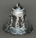 2 inch Silver Wedding Bells