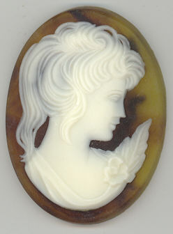 Cameo - Brown - 25 x 18 MM - 1 piece