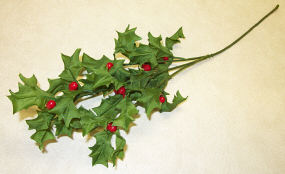 Silk Holly Spray