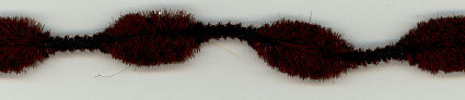 Brown 1 inch Chenille Bumps