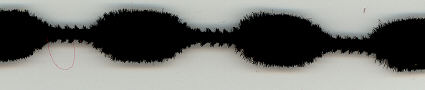 Black 1 inch Chenille Bumps
