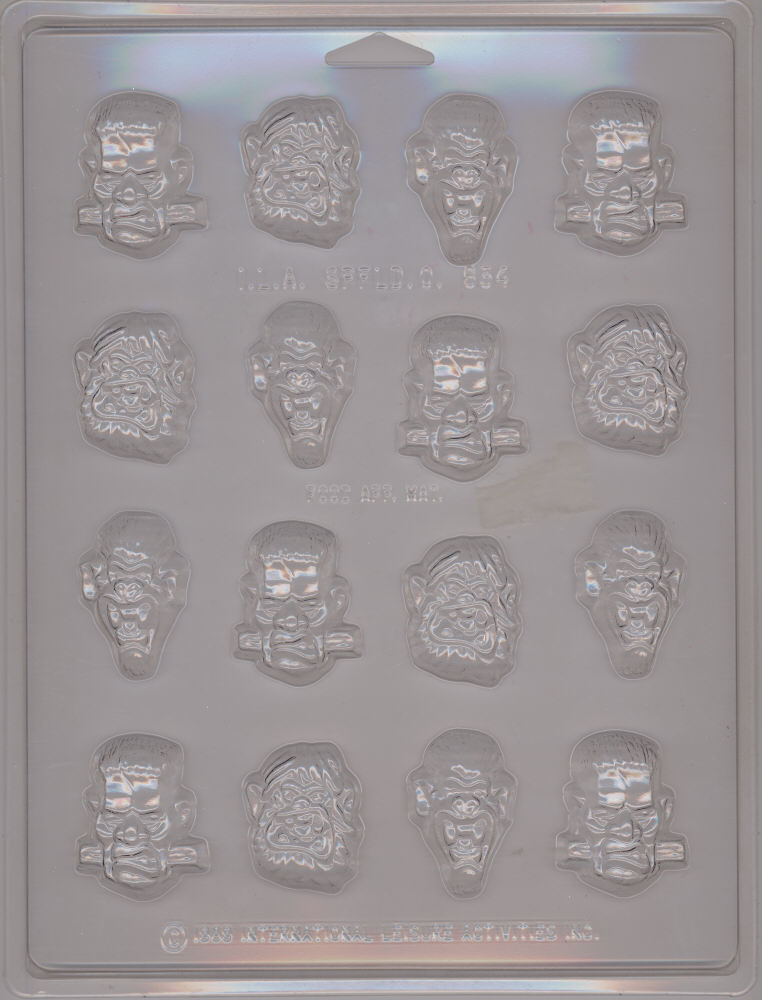 Monster Faces Candy Mold - Plastic