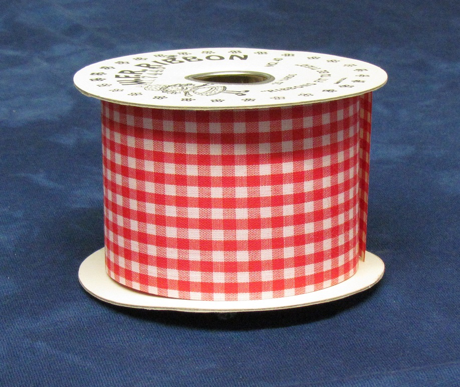 #40 Pettit Gingham Ribbon - Red
