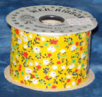 #40 Country Calico Ribbon - Yellow