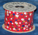 #40 Country Calico Ribbon - Red