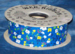 #9 Country Calico Ribbon - Blue