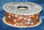 #9 Country Calico Ribbon - Brown