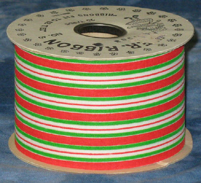 #40 Christmas Stripe Ribbon