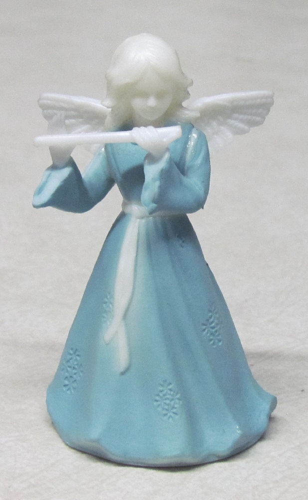 Wedge Wood Angel - Plastic - With Flute - 3-3/4 inch tall.