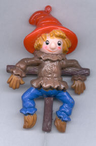 4-1/2 inch Scarecrow - plastic - on a 6 inch wire pick - 1 piece