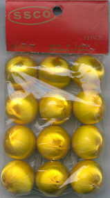 Satin Balls - Gold - 25 mm - 12 pieces