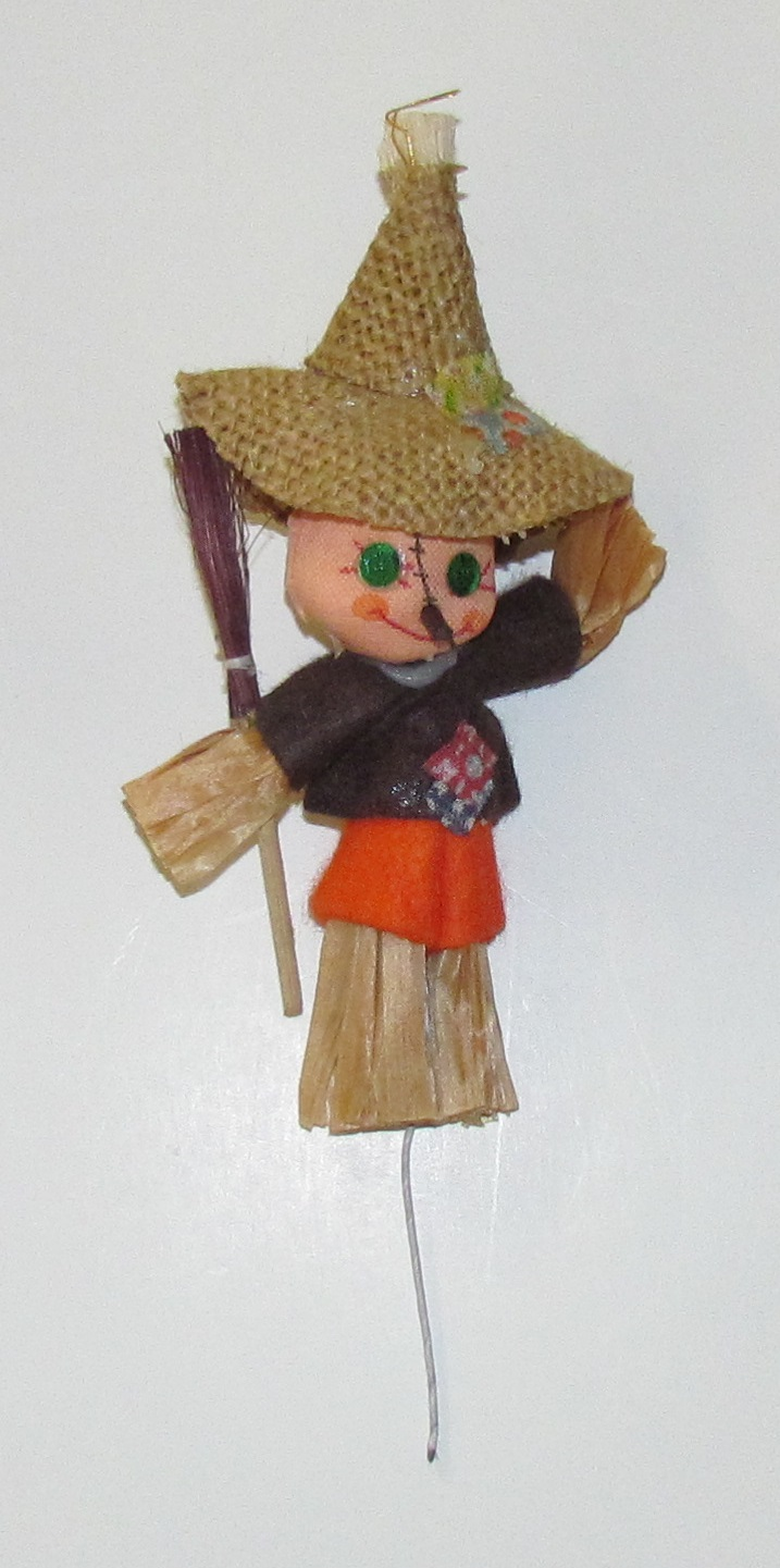 Scarecrow - 6 inch -  on wire pick - 1 piece